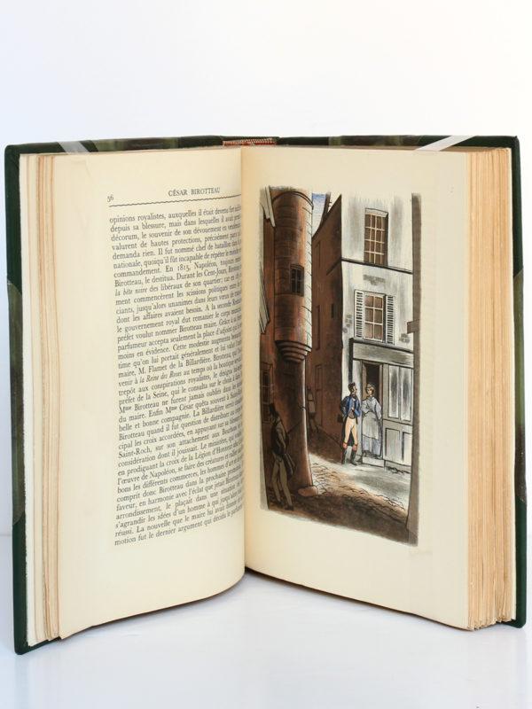 César Birotteau, Honoré de BALZAC. Dessins de PierreLEROY. Éditions Albert Guillot, 1948. Pages intérieures.