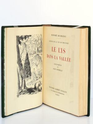 Le Lys dans la vallée, Honoré de BALZAC. Eaux-fortes de NickPETRELLI. Éditions Albert Guillot, 1950. Frontispice et page titre.