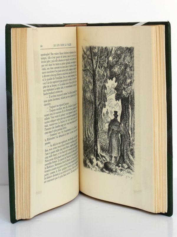 Le Lys dans la vallée, Honoré de BALZAC. Eaux-fortes de NickPETRELLI. Éditions Albert Guillot, 1950. Pages intérieures.