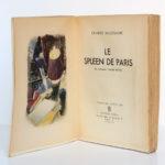 Le Spleen de Paris, Charles BAUDELAIRE. Dessins d'André HOFER. Athêna, 1946. Frontispice et page titre.