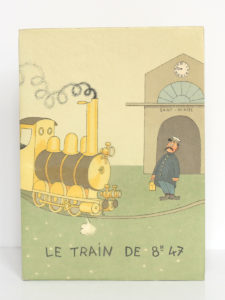 Le train de 8 h 47, COURTELINE. Illustrations de DUBOUT. Aux Éditions du Livre, 1951. Couverture.