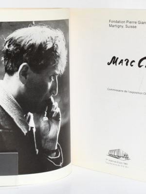 Marc Chagall en Russie. Catalogue de l'exposition en 1991 à la Fondation Pierre Giannada à Martigny en Suisse. Broché. Frontispice et page titre.