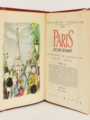 Paris aux yeux du monde, lithographies de Grau Sala. Deux-Rives, 1951. Frontispice et page titre.