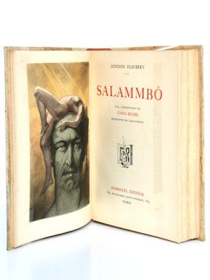 Salammbo, Gustave FLAUBERT. Dessins de LOBEL-RICHE. Rombaldi, 1939. Frontispice et page titre.