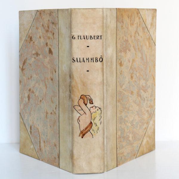 Salammbo, Gustave FLAUBERT. Dessins de LOBEL-RICHE. Rombaldi, 1939. Reliure : dos et plats.