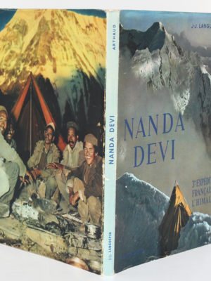 Nanda Devi, troisième expédition française à l'Himalaya, J.-J. LANGUEPIN, L. PAYAN. Arthaud, 1952. Couverture : dos et plats.