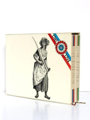 Almanach de la Révolution française et du Premier Empire, Jean Massin. Encyclopaedia Universalis, 1988. 2 volumes sous étui. Étui face 1.