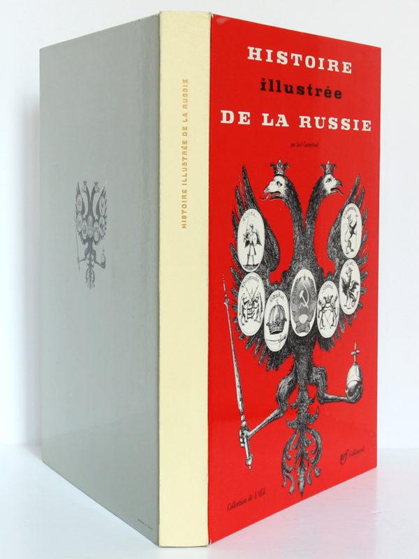 Histoire illustrée de la Russie, Joel Carmichael. nrf-Gallimard, 1960. Reliure : dos et plats.
