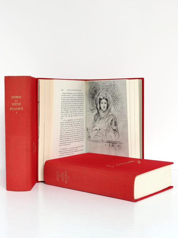 Journal de Eugène Delacroix. Librairie Plon, 1960. 3 volumes. Pages intérieures volume 2.