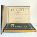 La Guerre. Documents de la section photographique de l'armée. 2 volumes. 1916. Tome premier : page titre.