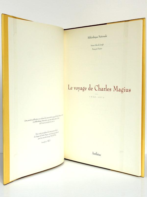 Le voyage de Charles Magius 1568-1573. Éditions Anthèse, 1992. Page titre.