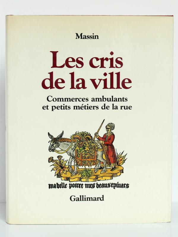 Les cris de la ville, Massin. Gallimard-nrf, 1978. Couverture.