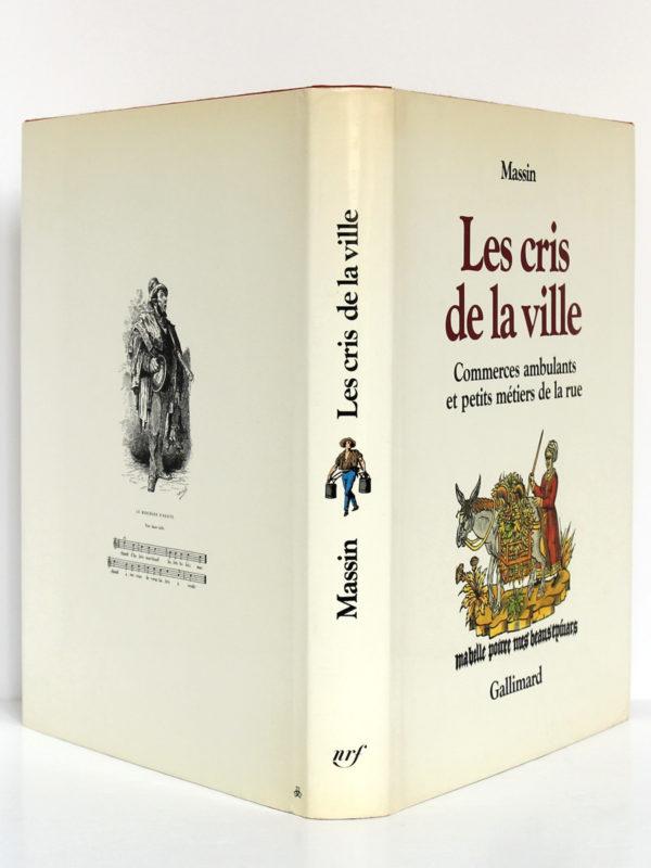 Les cris de la ville, Massin. Gallimard-nrf, 1978. Jaquette.