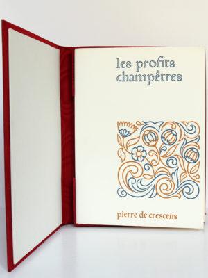 Les profits champêtres, Pierre de Crescens. Éditions Chavane, 1965. Couverture, livre dans l'étui-boîte.