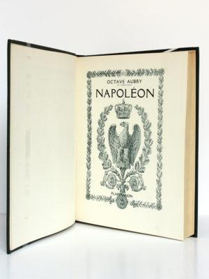 Napoléon, Octave Aubry. Flammarion, 1942. Page titre.