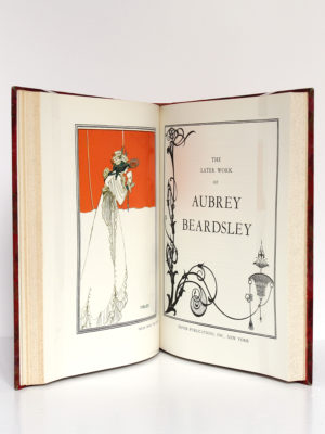 The Early Work of Aubrey Beardsley, Dover Publication Inc. sans date [1967 ou après]. Page-titre et frontispice du volume 2.