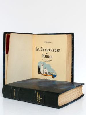 La Chartreuse de Parme, Stendhal. Aquarelles de Paul Domenc. La Belle Édition, sans date [1947]. Page titre du volume 1 et volume 2.