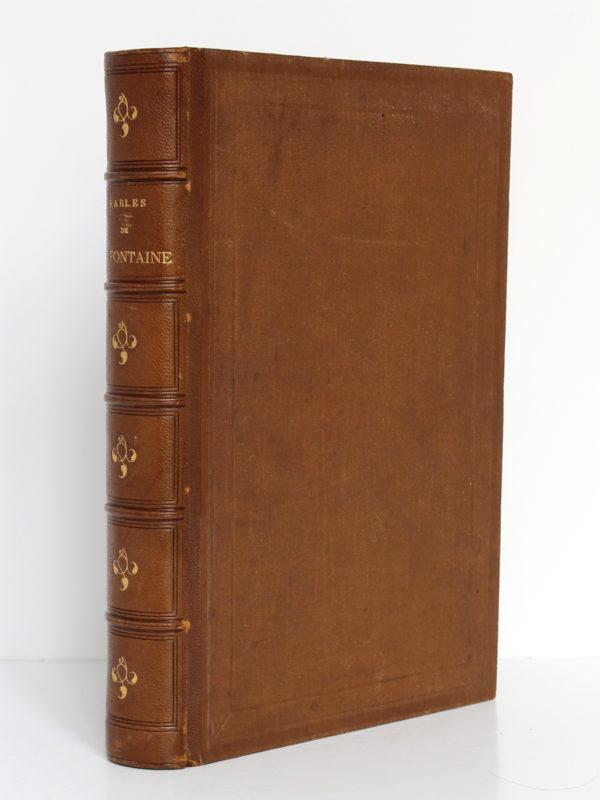 Fables de La Fontaine, illustrations par Grandville. Garnier-Frères, 1864. Reliure.