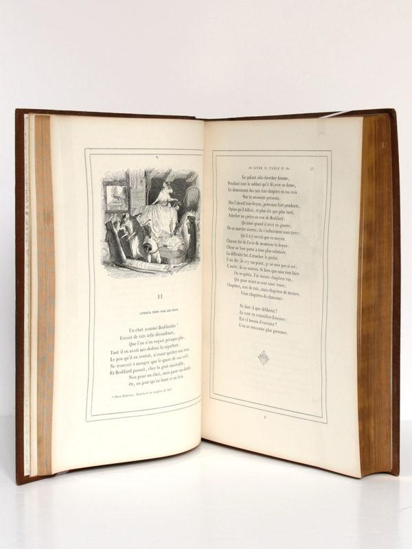 Fables de La Fontaine, illustrations par Grandville. Garnier-Frères, 1864. Pages intérieures 2.
