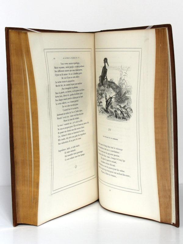 Fables de La Fontaine, illustrations par Grandville. Garnier-Frères, 1864. Pages intérieures 3.