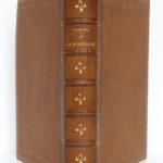 Fables de La Fontaine, illustrations par Grandville. Garnier-Frères, 1864. Reliure : dos et plats.