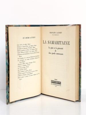 La Samaritaine, Fernand Laudet. Dunod, 1933. Page titre.