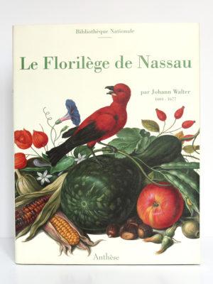 Le Florilège de Nassau, Johann Walter. Anthèse, 1993. Couverture.