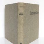 Paris antique Des origines au troisième siècle. Paul-Marie DUVAL. Hermann, 1961. Reliure : dos et plats.
