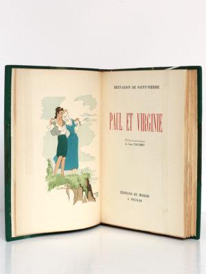 Paul et Virginie, Bernardin de Saint-Pierre. Illustrations de Line Touchet. Éditions du Marais, 1945. Frontispice et page titre.