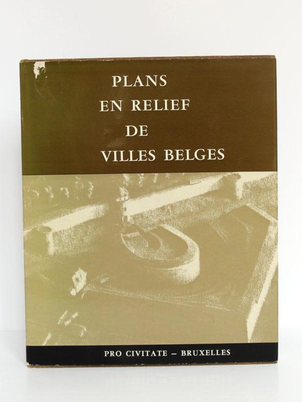 Plans en relief des villes belges. Pro Civitate, 1965. Couverture.