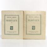 Théâtre complet de Marivaux. Les Éditions Nationales, 1946-1947. Couvertures.