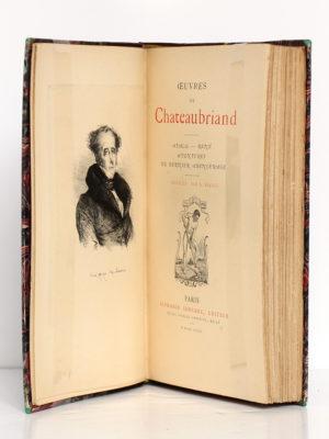 Atala, René, Aventures du dernier Abencerage, Chateaubriand. Alphonse Lemerre Éditeur, 1879. Frontispice et page titre.