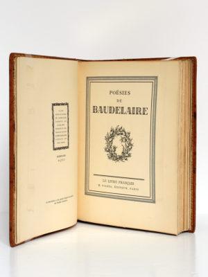 Poésies de Baudelaire. Le livre français H. Piazza éditeur, 1926. Page titre.