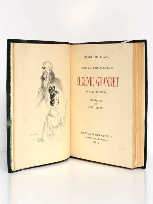 Eugénie Grandet, Le Curé de Tours, BALZAC. Eaux-fortes de Raoul Serres. Éditions Albert Guillot, 1950. Frontispice et page-titre.