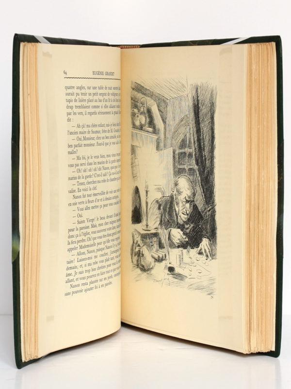 Eugénie Grandet, Le Curé de Tours, BALZAC. Eaux-fortes de Raoul Serres. Éditions Albert Guillot, 1950. Pages intérieures.