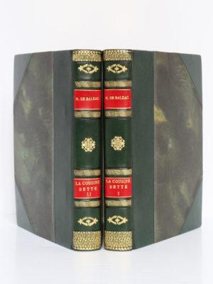 La Cousine Bette, BALZAC. Eaux-fortes de Raoul SERRES. Éditions Albert Guillot, 1948. 2 volumes. Reliures : dos et plats.