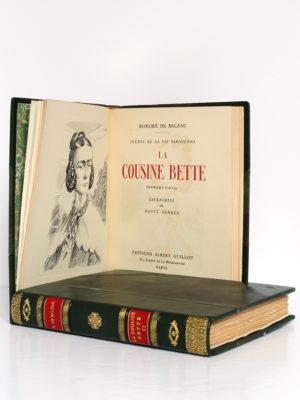 La Cousine Bette, BALZAC. Eaux-fortes de Raoul SERRES. Éditions Albert Guillot, 1948. 2 volumes. Frontispice et page-titre du premier volume.