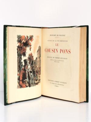 Le Cousin Pons, BALZAC. Dessins de Pierre ROUSSEAU. Éditions Albert Guillot, 1949. Frontispice et page-titre.