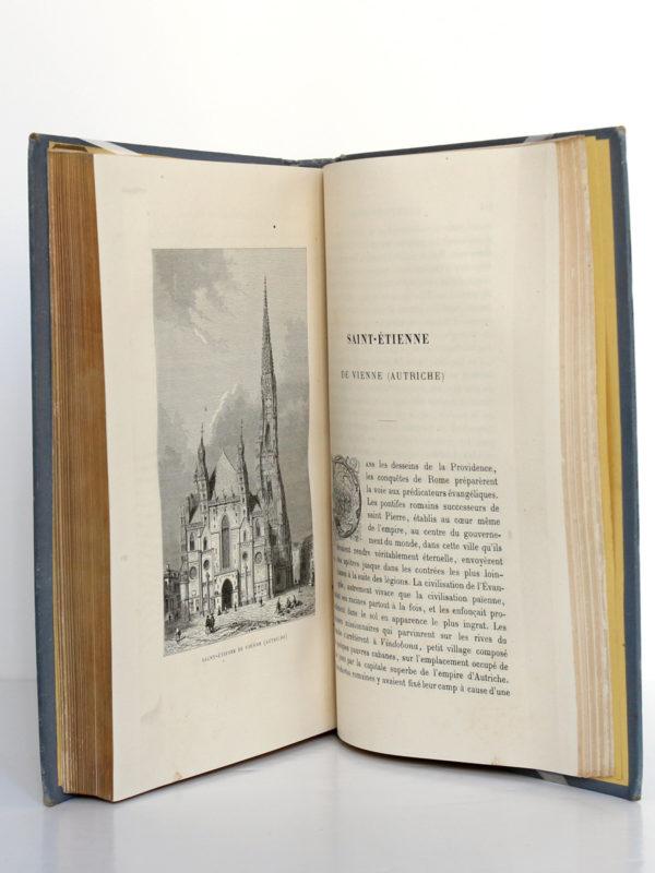 Les plus belles églises du monde, Abbé J.J. Bourassé. Illustrations d'après Karl Girardet. Alfred Mame et fils Éditeurs, 1885. Pages intérieures.