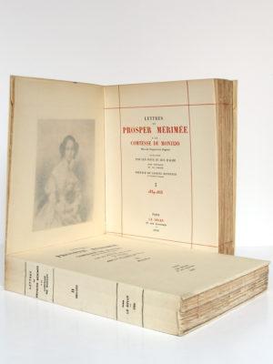 Lettres de Prosper Mérimée à la Comtesse de Montijo. Le Divan, 1936. 2 volumes. Frontispice et page titre du volume 1.