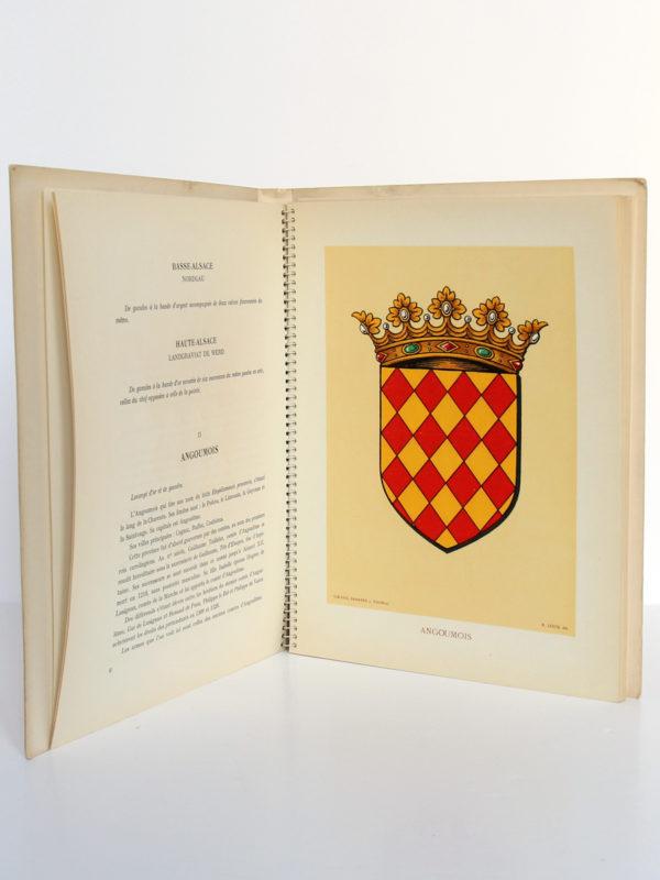 Les Armoiries des provinces françaises, MEURGEY DE TUPIGNY, Robert LOUIS. Girard & Barrère, 1951. Pages intérieures 2.
