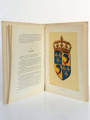 Les Armoiries des provinces françaises, MEURGEY DE TUPIGNY, Robert LOUIS. Girard & Barrère, 1951. Pages intérieures 1.