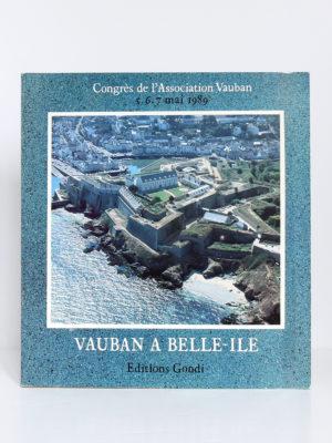 Vauban à Belle-Île. Trois cents ans de fortifications côtières en Morbihan. Congrès 1989. Couverture.