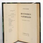 Histoires naturelles, Jules Renard. Flammarion, 1945. Page titre.