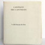Le cantique des cantiques, 15 dessins de Matisse. Le club français du livre, 1962. Couverture.