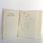 Le cantique des cantiques, 15 dessins de Matisse. Le club français du livre, 1962. Pages intérieures 1.