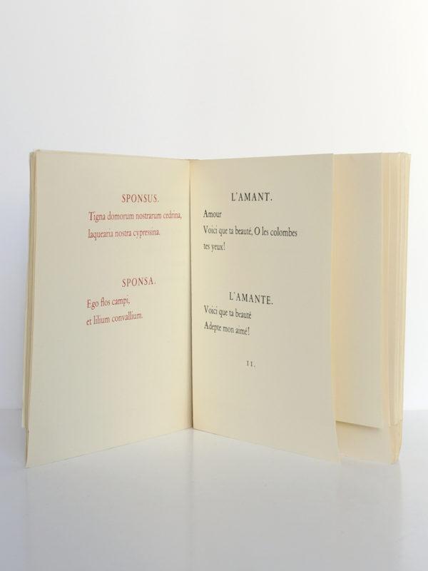 Le cantique des cantiques, 15 dessins de Matisse. Le club français du livre, 1962. Pages intérieures 2.