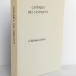 Le cantique des cantiques, 15 dessins de Matisse. Le club français du livre, 1962. Couverture et dos.