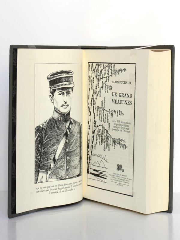 Le grand Meaulnes, Alain Fournier. Chez Jean de Bonnot, 1997. Frontispice et page-titre.