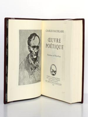 Œuvre poétique, Charles Baudelaire. Chez Jean de Bonnot, 1982. Frontispice et page-titre.